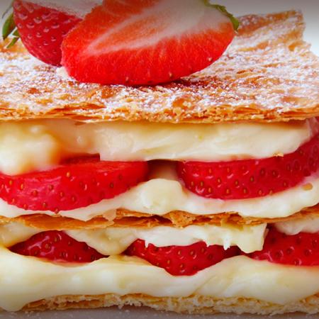 Receta – Mil hojas de crema pastelera